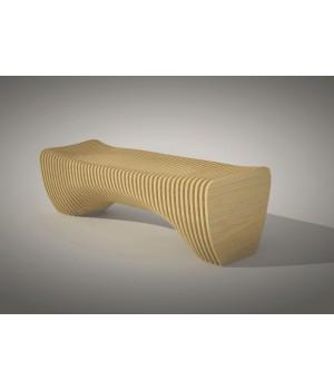 Параметрическая деревянная скамейка