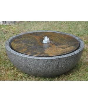 """Садовый фонтан """"Дзен"""" гранит и сланец"""
