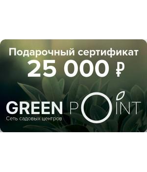 Сертификат номиналом 25000р.