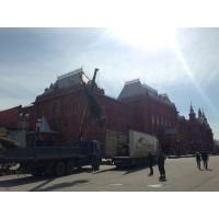 Благоустройство ярмарки московского Кремля на красной площади